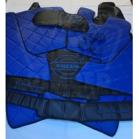 Eco leather floor mats for Volvo fh4  AUTOMATIC Blue
